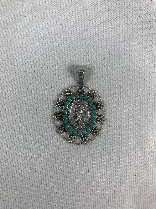 Medalla Virgen Chinos Plata Sterling .925