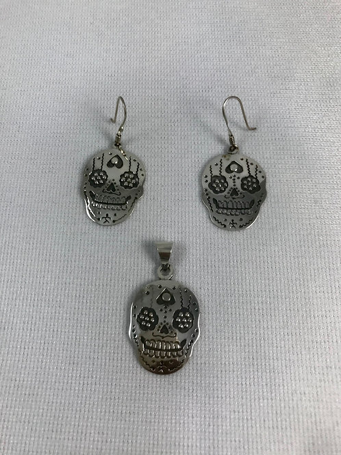 Set Calavera Plata Sterling .925
