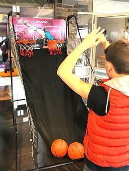 אטרקציות לאירועים עמדת כדורסל