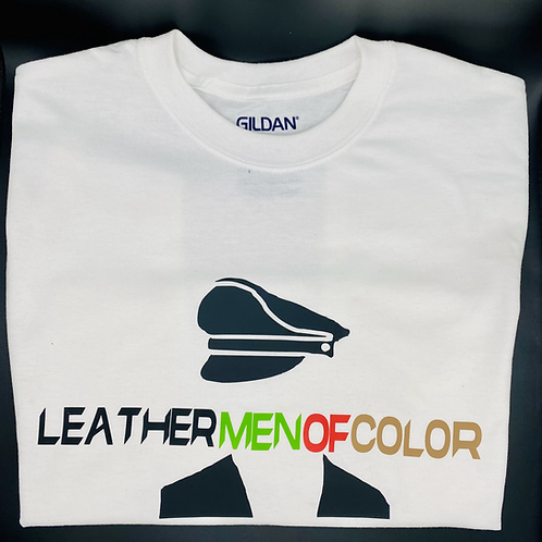 Leather Person of Color White T-Shirt