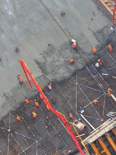 Заливка бетона сверху