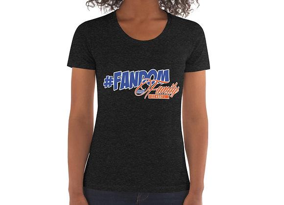 Women's Crew Neck T-shirt-#FandomandFamily