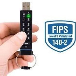 Apricorn Aegis Secure Key FIPS Validated 4 GB USB 2.0 256-bit AES-CBC Encrypted