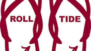 Roll tide flip flops