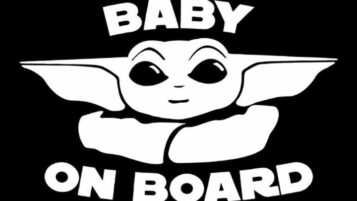 """Baby on Board"" Baby Yoda"