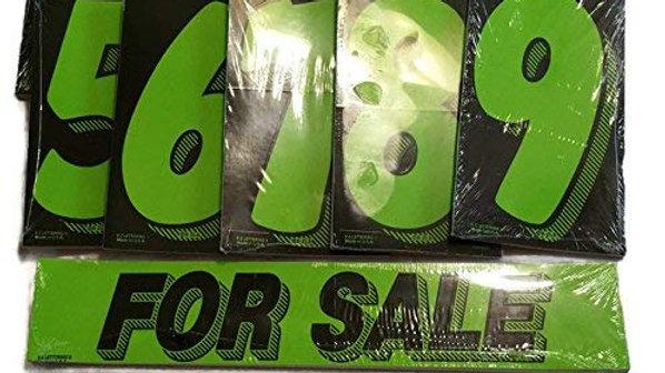 Vinyl Number & For Sale Decals 13 Dozen Car Lot Windshield Pricing Stickers