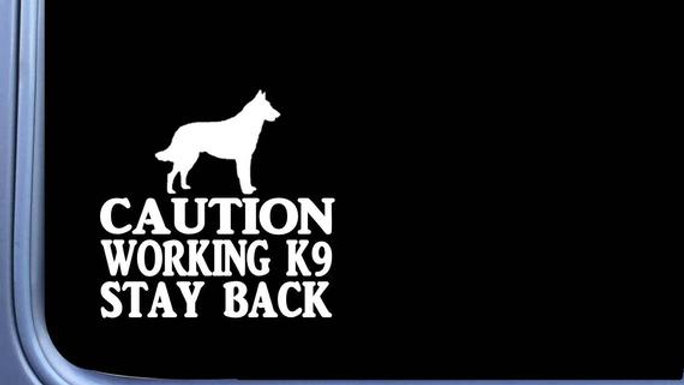 Caution Working K9 Decal