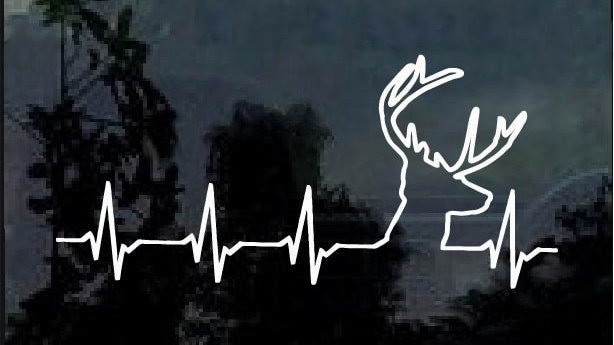 Deer Heart Beat Decal