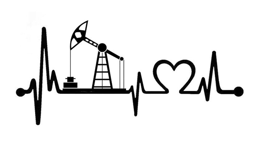 Oil Heart Beat Decal