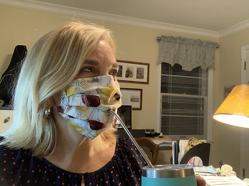 Red Wine/White Wine Sipping Mask