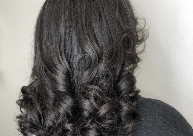Flat iron + curl