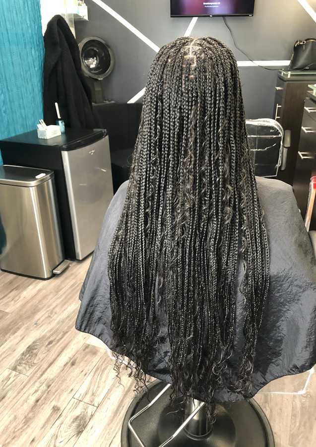 Boho knotless braids (long)