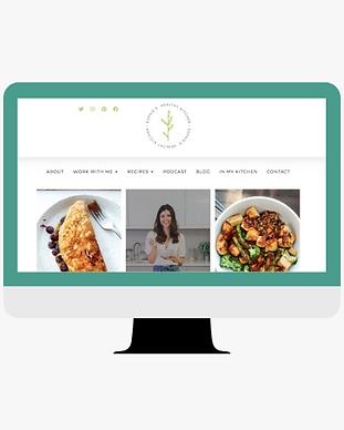 website redesign project of sophieshealthykitchen.com