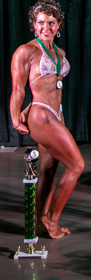 Candace Lord, owner of Integrated Fitness of Dover, at Granite State Open 2020