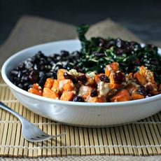 Kale Salad Bowl with Tahini