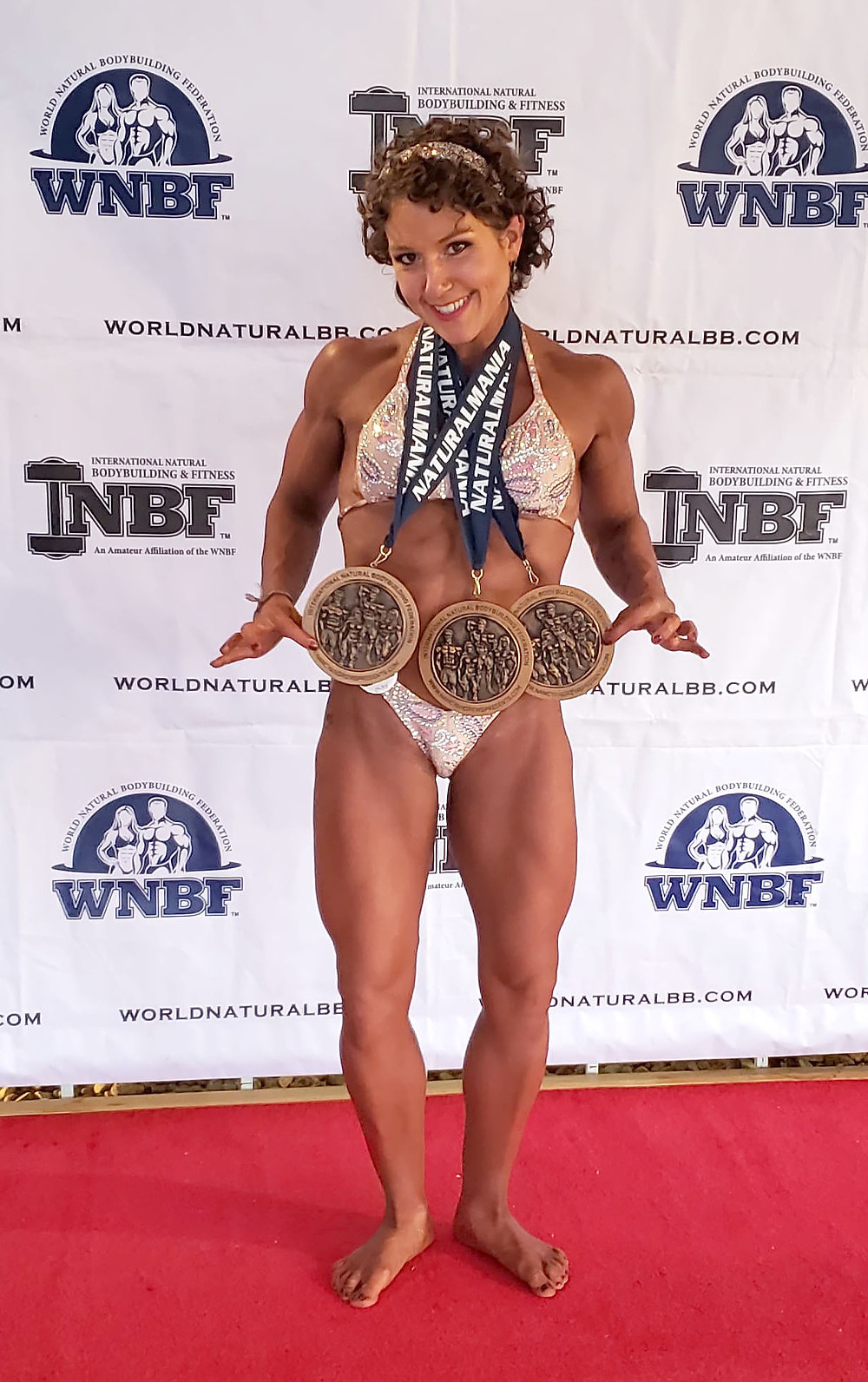 Candace, owner of Integrated Fitness, at INBF NaturalMania 2020