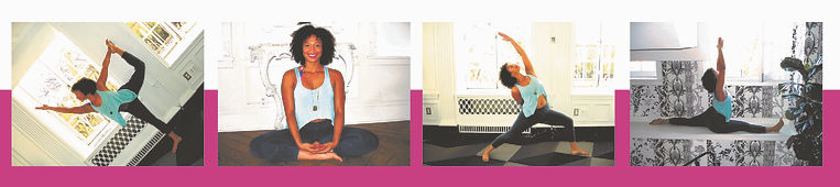 Yoga poses. Photo credit: Kumi Yogini at The Culver Hotel