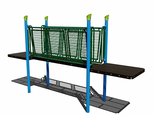 Funnel Bridge with Mesh Barriers