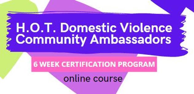 Domestic violence banner hot ambassador.