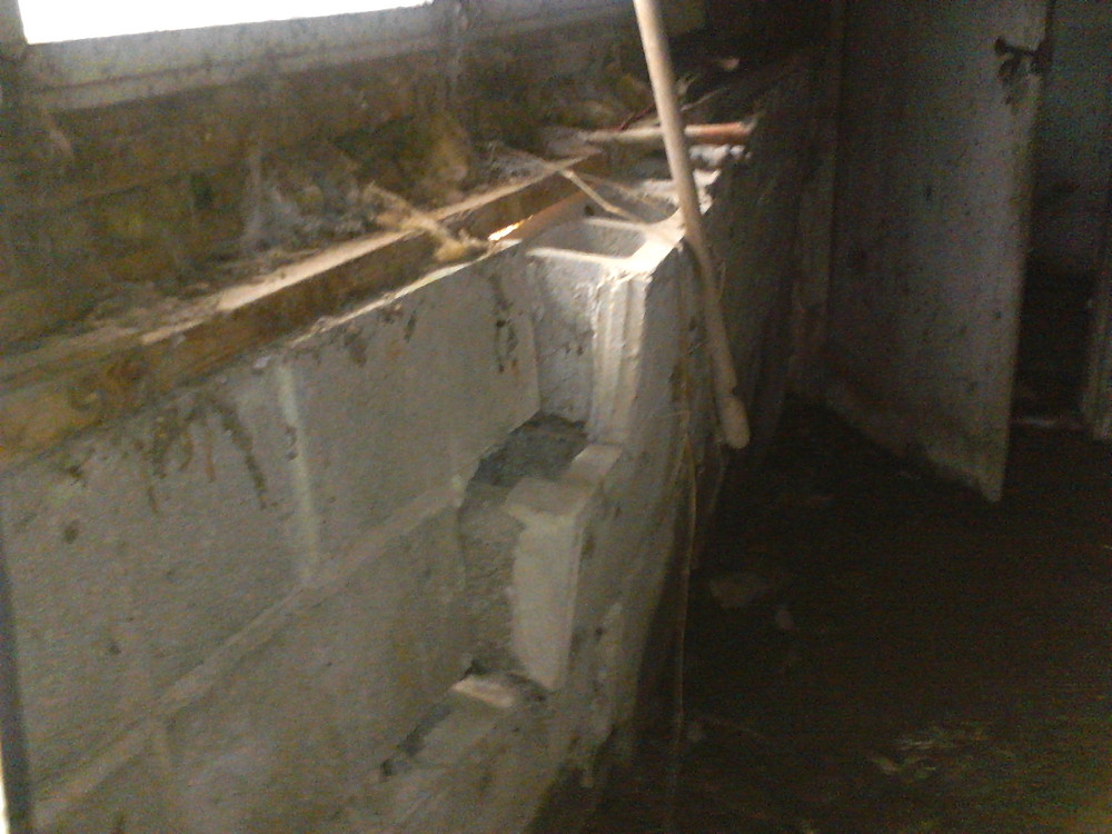craked, bowed, leaning foundation wall