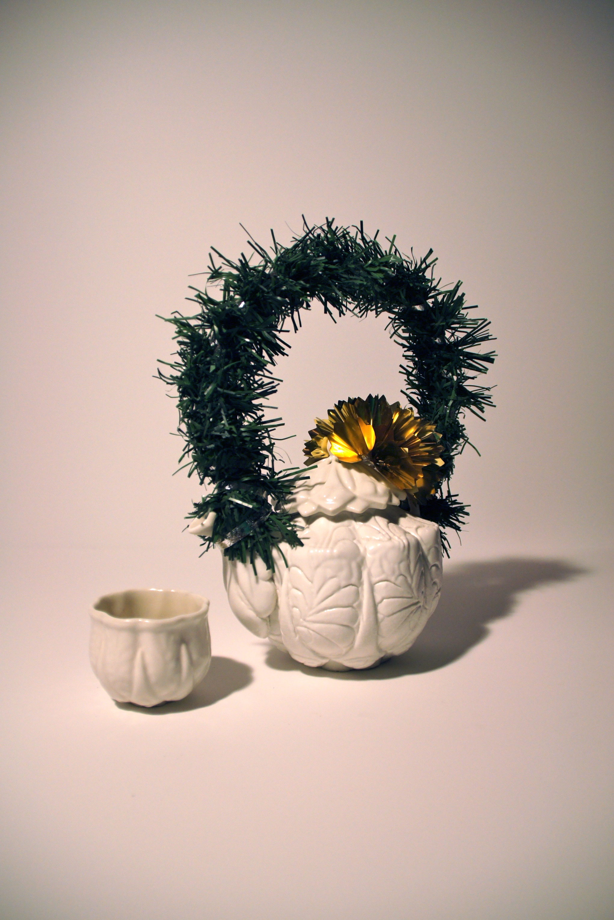 Tea for One, Wreath and Bow