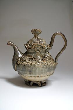 Grey Fur Teapot