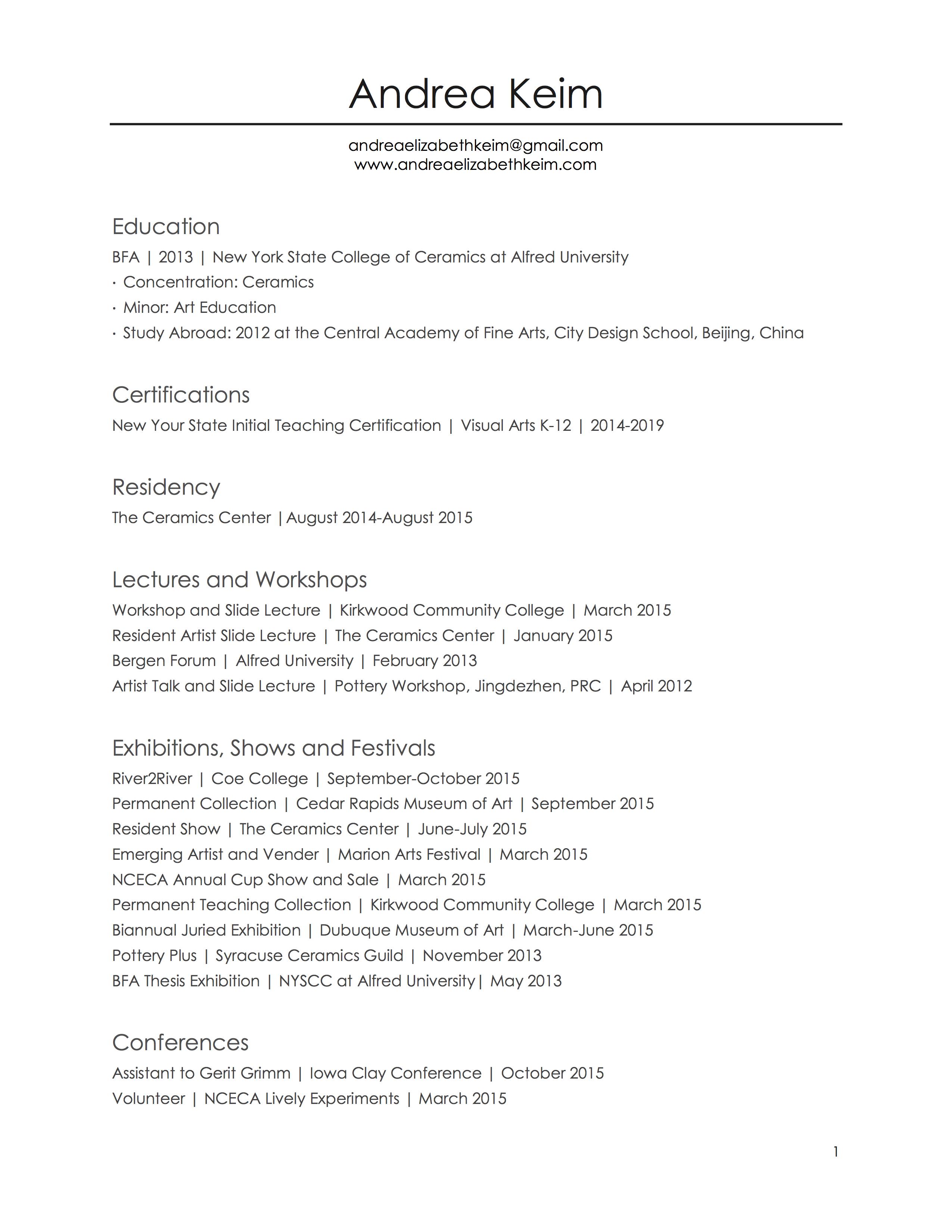 Simple CV February 2016 1