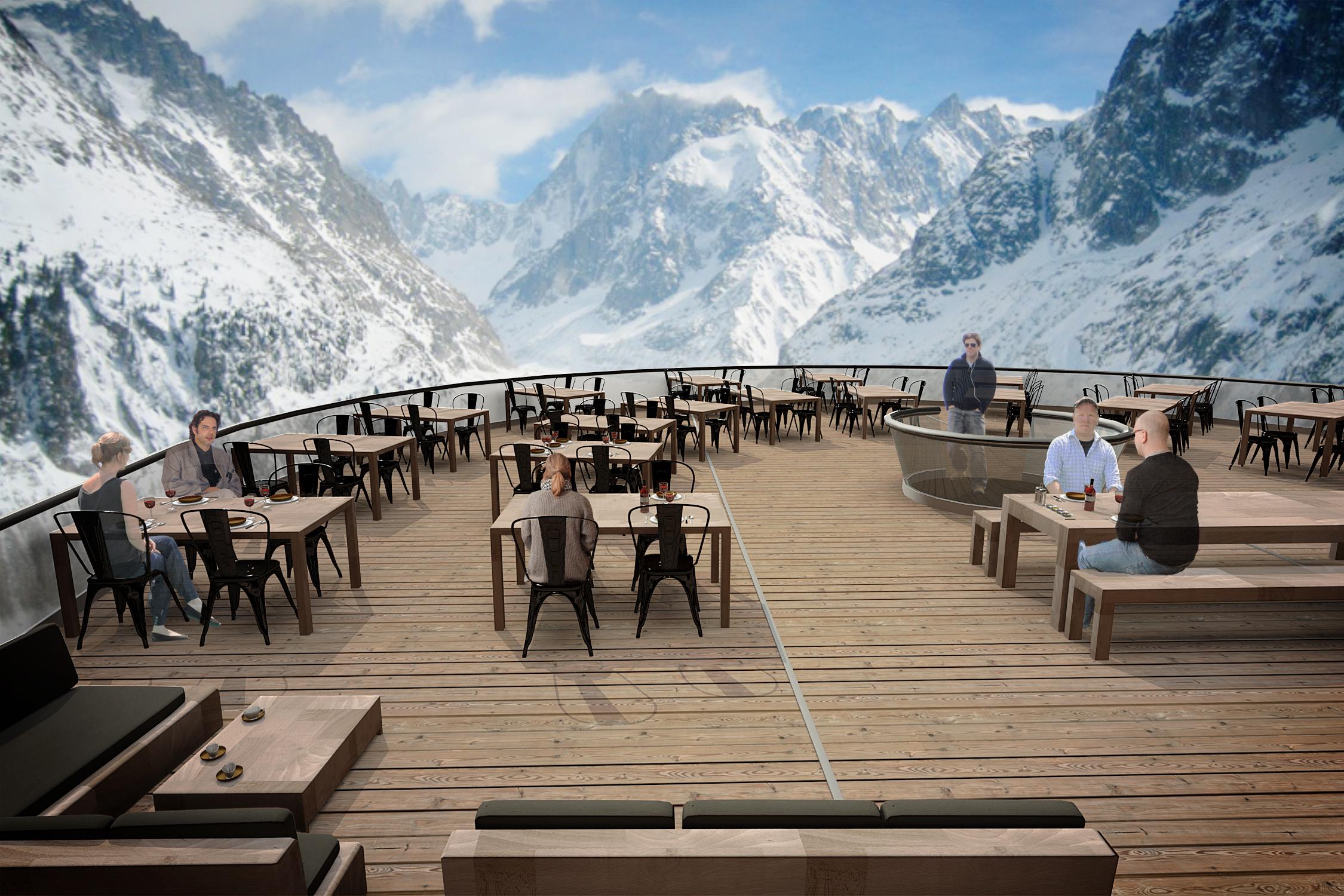 Terrasse restaurant Montenvers