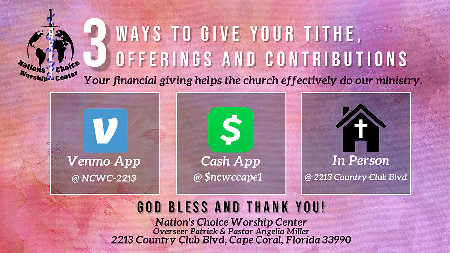 Tithes offerings and contribution slide