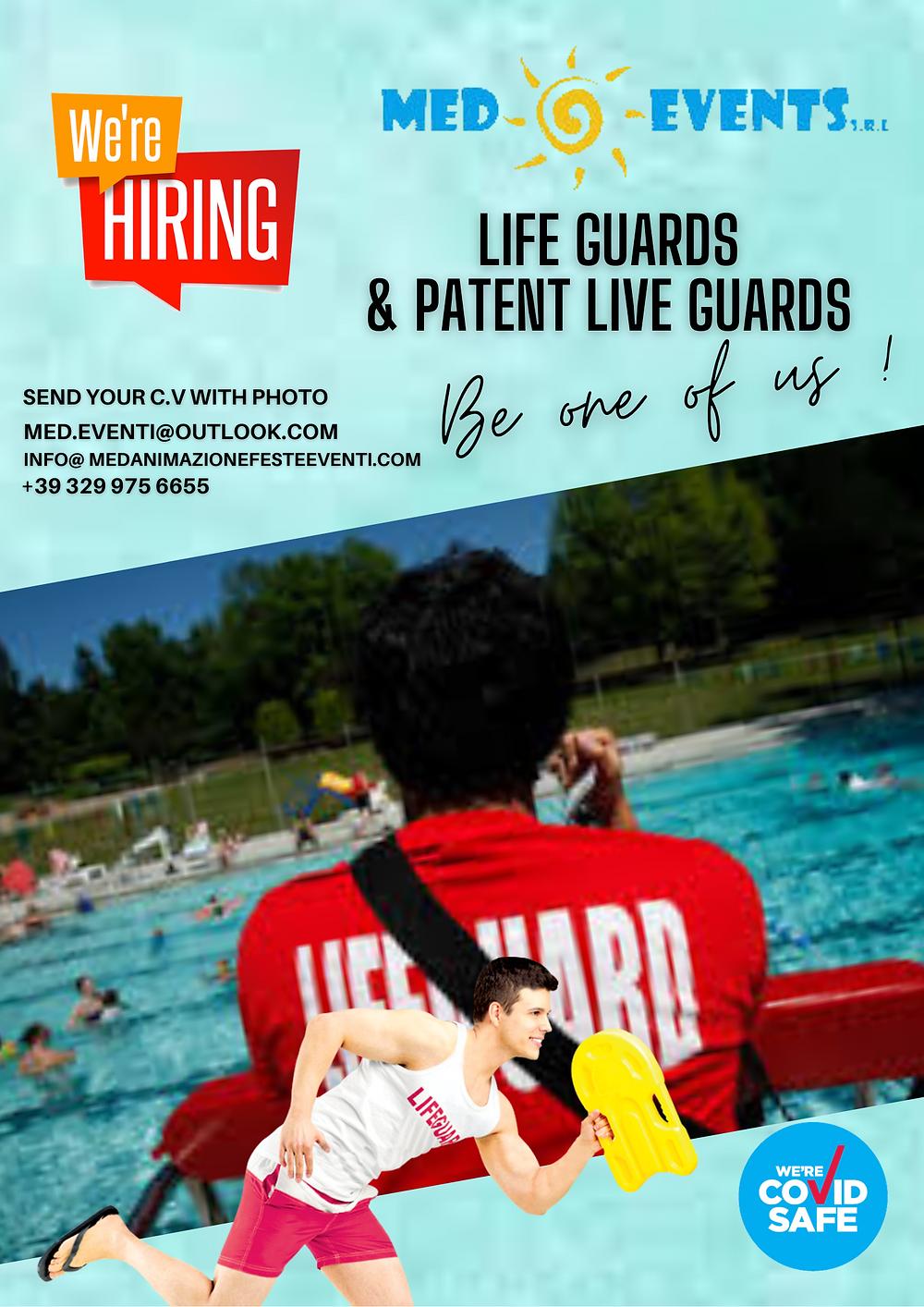 Cerchiamo bagnini di salvataggio anche prima esperienza per la stagione estiva 2021, cerchiamo assistenti bagnanti per strutture ricettive in tutta italia.