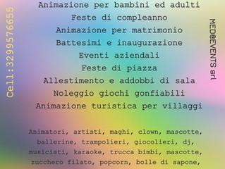 Animazione per bambini Reggio Emilia