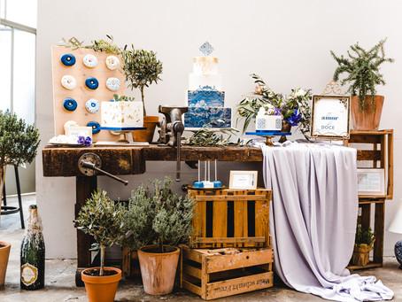 """Azulejos"" - Portugal-inspiriertes Styled Shoot in mediterranem Blau-Weiss-Gold"