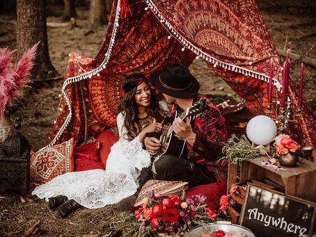 """""""Woodland Gypset Wedding"""" - Styled Shoot mit vielen Ideen für eine Boho Hochzeit"""