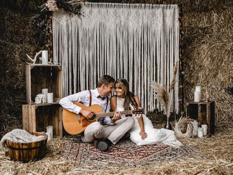 Alisa & Cedric - Hochzeitsinspiration in rustikaler Scheune für Eure Vintage Wedding - PART 1