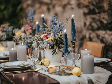 Hochzeit in Italien - ein mediterranes Dekokonzept für eine Hochzeit inspiriert von der Toskana
