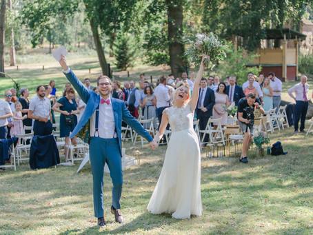 Miriam & Patrick - echte Hochzeit im Rittergut Orr - Sommerhochzeit im August
