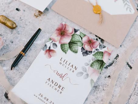 Die Hochzeitskartentrends für 2021 - Ideen für eure Hochzeitseinladungen und Hochzeitspapeterie