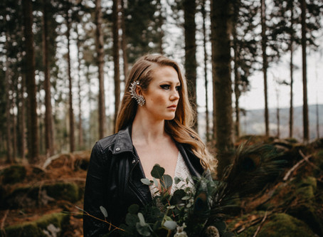 """Modern Rock Princess"" - Rockige Bridal Inspiration aus dem Schwarzwald"