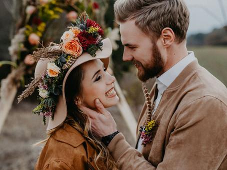 """Wild Boho Romance"" - wildromantisches Boho Wedding Styled Shoot"