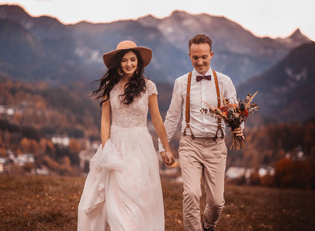 Stefanie & Sebastian - After Wedding Shoot in malerischer Bergkulisse