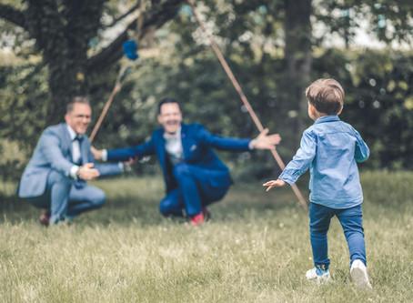 Bjoern & Christian alias Papa & Papi - eine kunterbunt glückliche Familie zelebriert die Liebe
