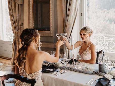 Berta & Omega - Elegantes, zeitloses und luxuriöses Bridal Editorial aus der Schweiz