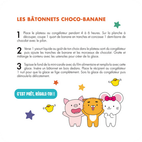 Les Bâtonnets Choco-Banane