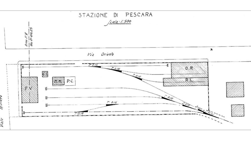 REALIZZAZIONE STAZIONI della ferrovia a scartamento ridotto: PESCARA PORTO - MONTESILVANO - MOSCUFO - PENNE