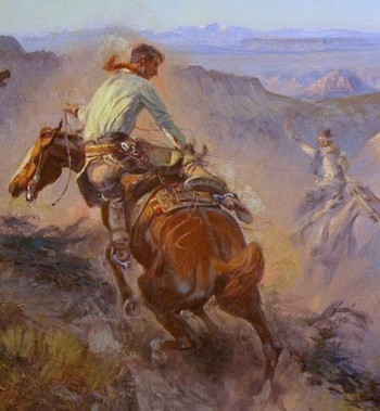 C.M. Russell, Wild Horse Hunters No. 2