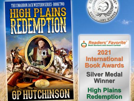 """High Plains Redemption"" Wins Silver Medal in 2021 Readers' Favorite International Book Awards"