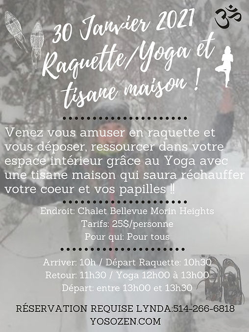 30 Janvier 2021 Raquette_Yoga et tisane