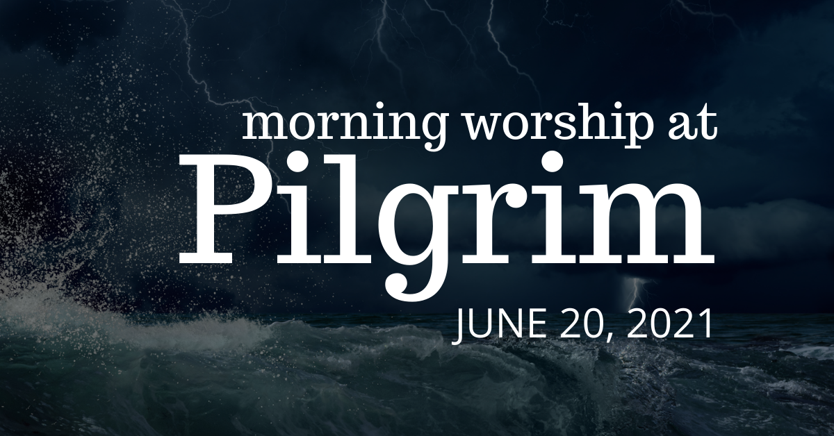 waves crashing against a rocky coastline - indoor worship with communion on June 20, 2021