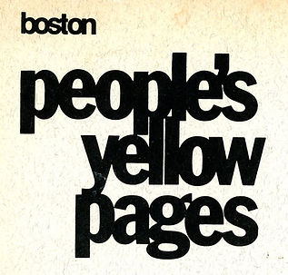 Peoples Yellow Pages Boston 1976 cover C
