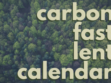Pilgrims Caring for Creation Invite You To A Lenten Carbon Fast